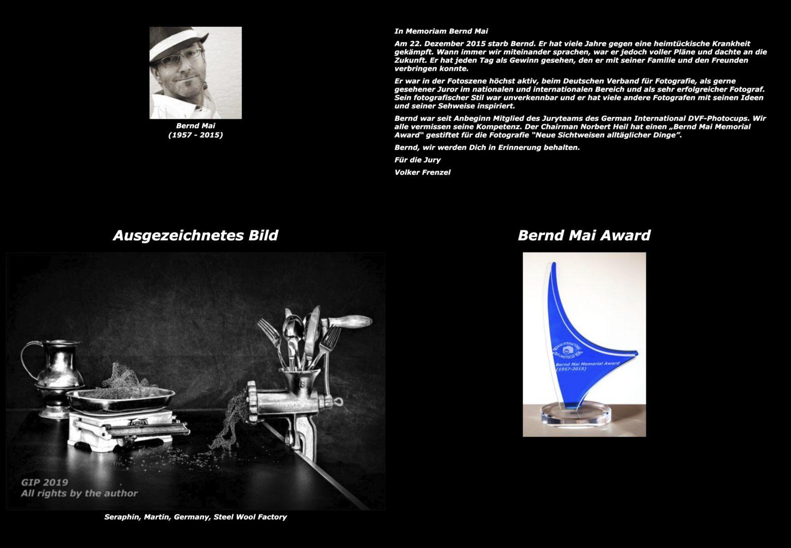 Bernd Mai Award - Martin Seraphin - DVF